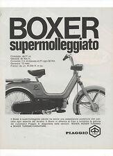 Pubblicità epoca 1970 MOTO MOTOR BOXER PIAGGIO old advertising werbung publicitè