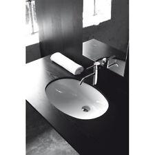 Lavandino Lavabo Sottopiano Bagno modello Parigi in ceramica bianco 58x39 cm