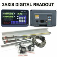 2 Axis DRO Digital Readout Bridgepor Milling Lathe Tool Linear Scale 300&1000MM