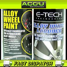 E-Tech Professional BLACK Car Alloy Wheel Spray Paint Lacquer Refurbishment Deal
