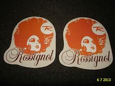 2 Authentic Rossignol promotionnel Stickers #19 autocollants aufkleber