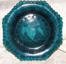 Lovely Bicentennial 1976 Teal Blue Green Octagonal 8 Sided Eagle Plate 13 Stars