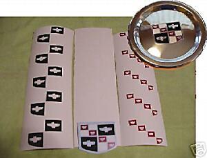 Studebaker 1951-52 & 56 Hubcap Vinyl Inserts (crest)