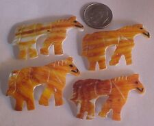 "Orange Spiny Spiney Oyster Left Facing Horse Spiny Focal Bead approx 2"" by 1"""