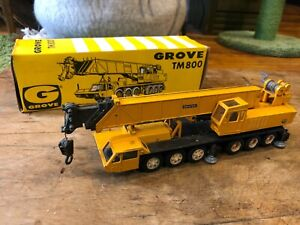 Vintage NZG - Grove TM 800 - Crane Truck - West Germany Diecast Model w/ Box