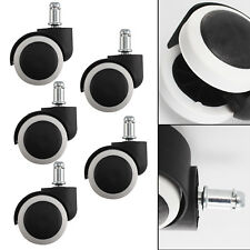 5x Roulettes Replacement Pour Chaise ou fauteuil de Bureau Roulettes Pivotantes