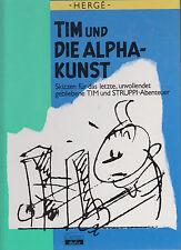 Tim und die Alpha-Kunst Hc. Zustand (0-1) + Extra Begleittext (0-1) Herge