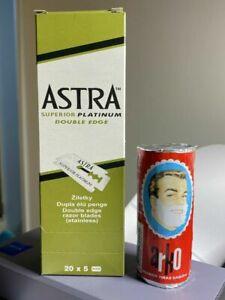 Gillette Astra Platinum Double Edge Blades+ ARKO Shaving Soap Stick free