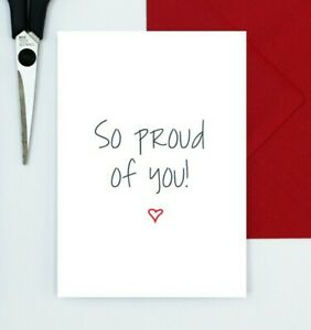 So proud of you card - congratulations - well done - graduation - exam card