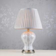 Pale Grey Patterned Ceramic Porcelain Table Lamp Antique Style (GB060)