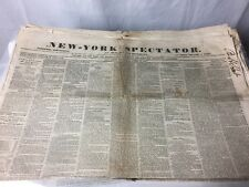 Lot Of 8 Vol New York Spectator newspaper, April 16,20,23,27,30 May 4,7,11 1857