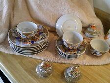Antique Moriage Dragonware Porcelain Tea Set, as Found, 18 Pieces