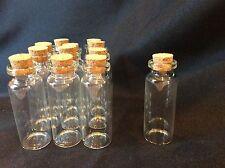 """Cork Glass Bottles FOR Baptism Communion Wedding Favors 12 Pk 2.25"""""""
