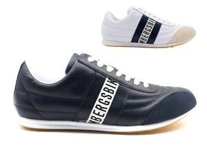 Scarpe da per uomo Bikkembergs sneakers casual basse comode leggere in pelle