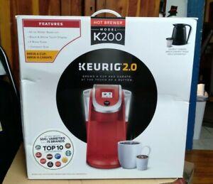 Keurig K200 Series 2.0 Single Serve Plus Coffee Maker Brewer- Imperial Red