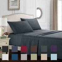 Egyptian Comfort 3/4 Piece 1800 Count Deep Pocket Twin Queen King Bed Sheet Set