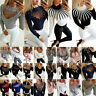 WomenS Autumn Round Neck Long Sleeve Sweater Loose Knit Pullover Jumper Tops USA