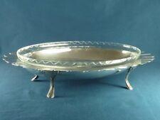 Coupe présentoir Art Déco en métal argenté et cristal