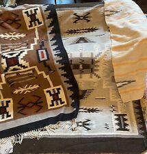 Vintage Navajo Wool Rug  Lot Of 3 ~ Storm Native American Blanket