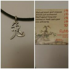 Are you a rabbit? Born:1951 1963 1975 1987 1999 2011 Year Of The Rabbit Necklace