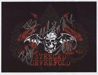 Avenged Sevenfold SIGNED Photo 1st Generation PRINT Ltd 150 + Certificate / 3