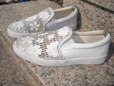 Guess Damen Schlüpfschuhe Slipper Leder Weiß #758