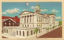 Lancaster County Court House at Lancaster PA Postcard
