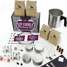 49 PC Set Soy Candle Making Kit Beginner Dyes Wicks Pitcher Tins Scents Supplies