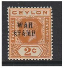 Pre-Decimal Lightly Hinged Ceylon Stamps
