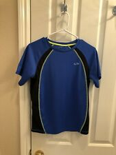 Champion Authentic Boys Compression Short Sleeve Shirt 14//16 Gray//Lime//Navy