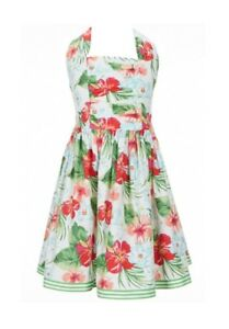 Bonnie Jean Big Girl's Tropical Floral Summer Dress-Size-12 or 14-Green