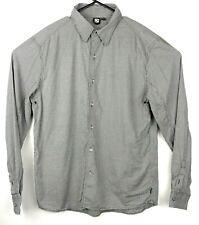 Rusty Mens XL Button Up Shirt Long Sleeve Black White Check Gingham Plaid Top