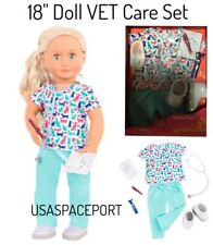 """18"""" Doll Deluxe VET Pet CARE Set for Our Generation American Girl Boy Doctor Lot"""