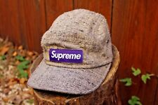 Mens Supreme NY Hat Donegal Herringbone Tweed Campcap Purple Grey Flannel FW/12