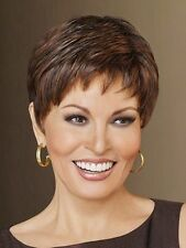 Raquel Welch Short Boy Cut Pixie WINNER Synthetic Wig, Color R9S+ Brown, Average