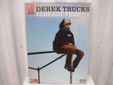 Derek Trucks Already Free Sheet Music Song Book Songbook Guitar Tab Tablature