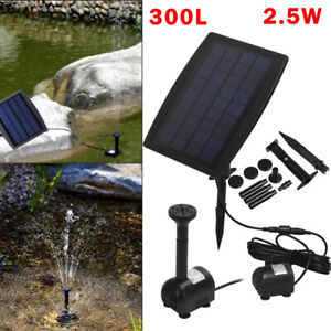 Solar Powered Floating Pump Water Fountain Pond Pool Birdbath Garden Home UK
