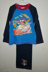 BOYS OFFICIAL THE MUPPETS 'ANIMAL' LONG LEG  PYJAMAS AGES 4-5 up to 9-10 YEARS