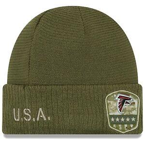 New Era NFL Atlanta Falcons Salute to Service Knit Beanie Hat Cap Ski Winter
