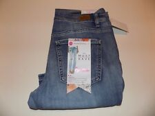 Almost Famous Destroyed And Patched Stretch Boot Cut Jeans Jr Sz 7 Nwt