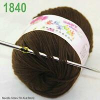 Sale New 1ballx50g Soft Cashmere Silk Wool Baby Children Hand Knitting Yarn 40