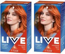 2x Schwarzkopf LIVE Colour + Lift L74 Tangerine Twist