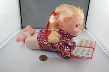 Vintage Musical Light Up Doll with Book Singing ABC Song, Battery Opp Working