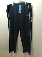 BNWT Mens Sz 3XL King Size Slazenger Brand Navy Blue Side Piping Track Pants