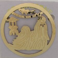Shih Tzu Jewelry Large Gold Pin by Touchstone