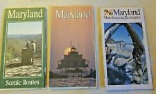 Vintage 1988, 1989, 1991 Maryland Official Road Maps