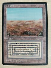 MTG Scrubland Foreign Black Bordered FBB French Played Magic the Gathering