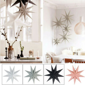 Large 3D Paper Star Wedding Party Hanging Bedroom Home Decor Decoration Craft