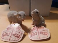 Holy Herd Noah's Ark Sampson and Suzy Sheep Figures Pair Pete Apsit with Box