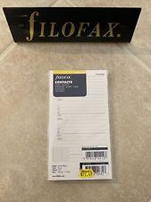 New Listingfilofax Nameaddresstelephone Refill For Personal Value Pack 100 Sheets 133055